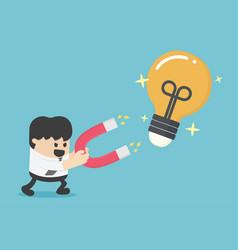 gathering idea concept magnet lamp concept vector image