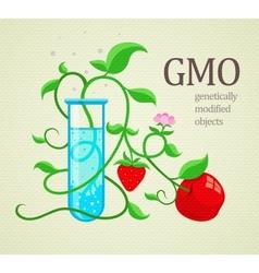 GMO genetically vector image vector image