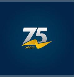 75 years anniversary celebration white blue vector