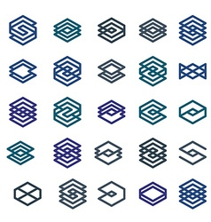 Abstract creative business icons collection vector image