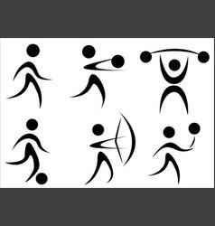 Active sports icon vector