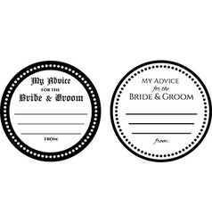 Advice for bride and groom wedding card vector