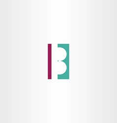 b letter logo b design element vector image
