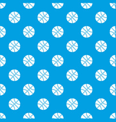 Basketball ball pattern seamless blue vector