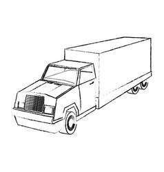 Big cargo truck icon image vector