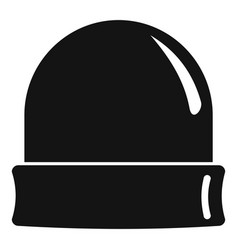black beanie icon simple style vector image