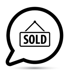 bubble with sold board icon vector image