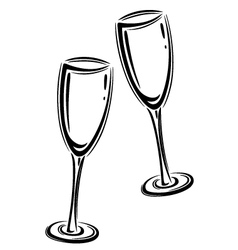Champagner glasses vector