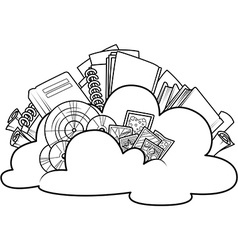 Cloud with the contents vector image