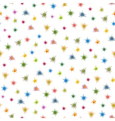 Colourful stars seamless pattern vector image