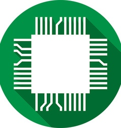 Computer Microchip Icon vector