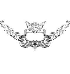 cupid heraldry vector image