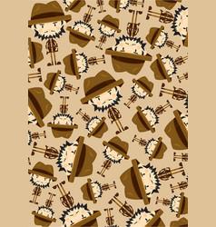 Cute cartoon adventurer pattern vector