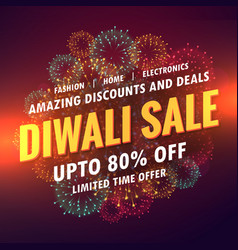 diwali sale offer banner design vector image