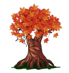 Fantasy deciduous tree in the fall isolated on vector