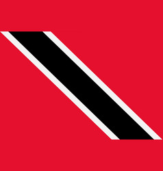 flag of trinidad and tobago vector image