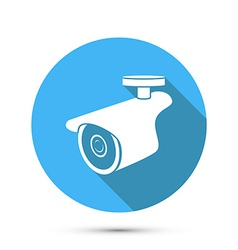 Flat Icon of Security Camera vector