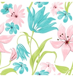 Floral seamless pattern or background retro style vector