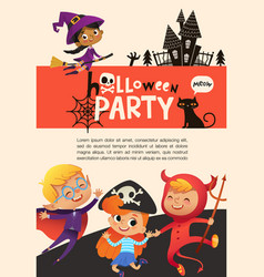 flyer or poster template with cute happy little vector image