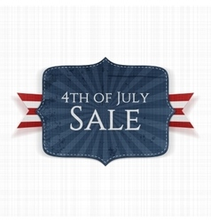Fourth of July Sale realistic Label vector