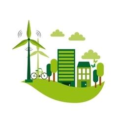 Green idea design vector