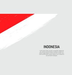 Grunge styled brush stroke background with flag vector