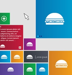 Hamburger icon sign buttons modern interface vector