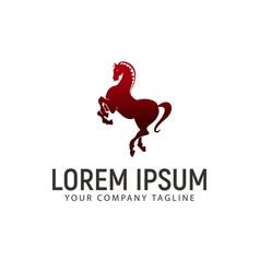 horse jump logo design concept template vector image