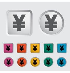 Icon Yen vector image