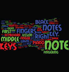 Learn the notes on the piano text background word vector