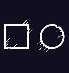 Liquid shapes vector
