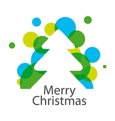 Logo abstract Christmas tree vector