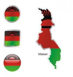 malawi vector image
