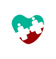 Medical health heart clinic logo template vector