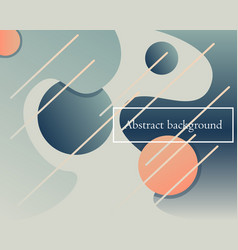 modern backdrop with fluid geometric shapes vector image