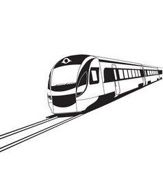 modern high speed train on white background vector image