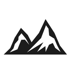 mountain tourism black icon hiking scenery view vector image