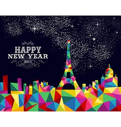 New year 2015 France poster design vector