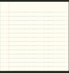 notebook paper background vector image