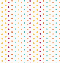 Painted green yellow orange and purple dots vector image