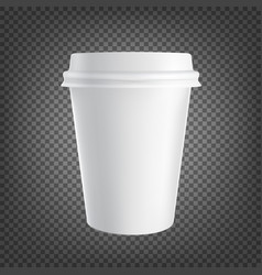 paper coffee cup icon isolated on black vector image