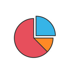 Pie chart icon vector