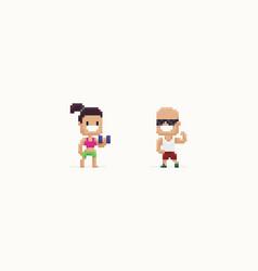 pixel art sport vector image