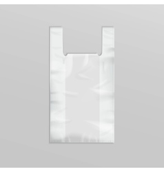 Plastic shopping bag with handles on background vector