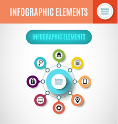 process chart infographics4 vector image