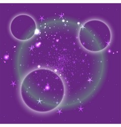 Purple circle background with star vector