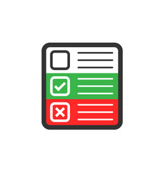 questionnaire icon in flat style online survey on vector image