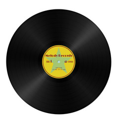 Realistic gramophone vinyl record in retro style vector