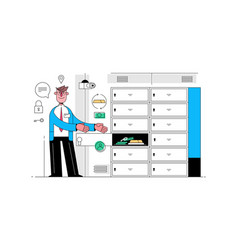 Safe deposit box vector