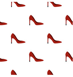 shoe pattern flat vector image